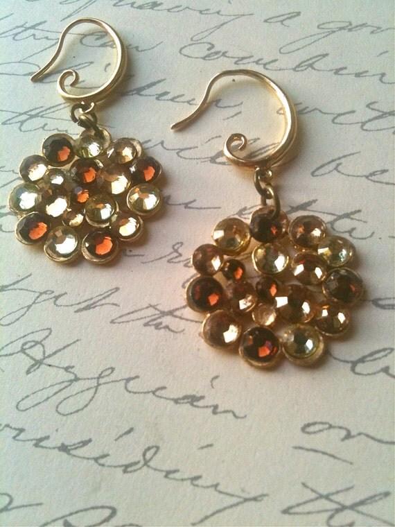 Crystal Earrings Vintage Inspired Swarovski Crystal Circle Women's Jewelry