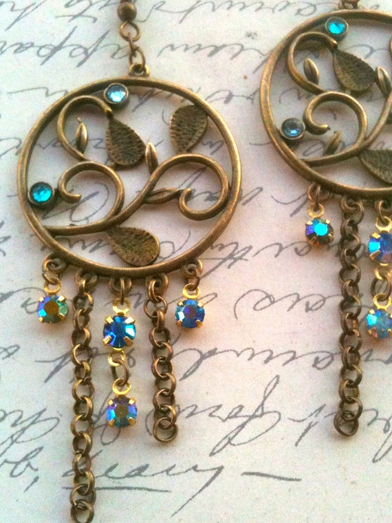 Jewelry Earrings Authentic Vintage Swarovski Charm Earrings Bejeweled Gifts