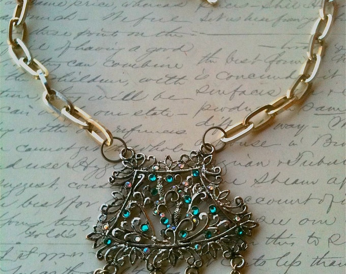 Jewelry Necklace Metal Victorian Steampunk Romantic Inspired Metal Swarovski Crystal