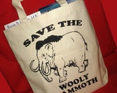 Save The Wooly Mammoth -  Canvas Tote Bag