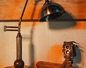 Vintage Industrial Steampunk Desk or Table Lamp or Torch Lamp