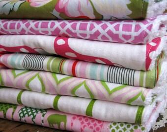 DESIGN YOUR OWN - Set of 10 Baby Burp Cloths - You Choose Fabrics