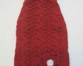 Knitting Pattern PDF - Hand Knit Dog Sweater - Signature Daisy Cable Turtleneck