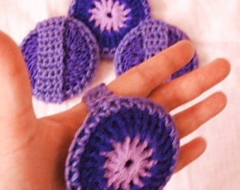 Reversible Pot Scrubber and Washcloth - Multicolor Purple Scrubbies - Set of 2 through 8