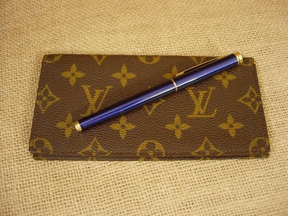 Vintage Rare Saks Fifth LOUIS VUITTON Monogram Checkbook Cover Wallet Agenda Accessory LV