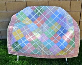 Baby/Toddler Patchwork Lattice Crib Quilt