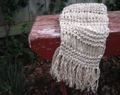 FREE SHIPPING Neutrals Gray/White Long, Soft Chunky Scarf - Ready to ship