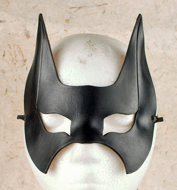... BATMAN Mask. Designed & Hand Crafted in Wales. Leather Batman Mask. on