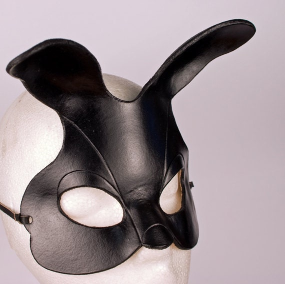 BUNNY Mask. Designed & Hand Crafted in Wales. Leather Bunny Mask.