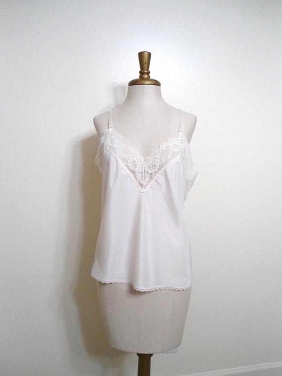 Barbizon Cream and Lace Vintage Camisole size Medium