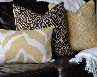 Beautiful Animal Print Home Decor Pillow Cover -20x20-Chocolate Brown-Decorative Pillow-Accent Pillow-Throw Pillow