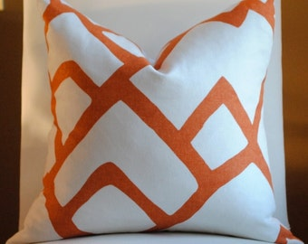 NEW Beautiful Decorative Pillow Cover-18x18--ZIMBA- Orange