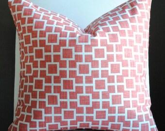 Designer Pillow Cover- BOTH SIDES -20x20-Cats Cradle-Accent Pillow-Throw Pillow-Decorative Pillow-Papaya