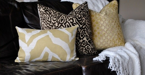 Beautiful Animal Print Home Decor Pillow Cover -20x20-Chocolate Brown-Decorative Pillow-Accent Pillow-Throw Pillow