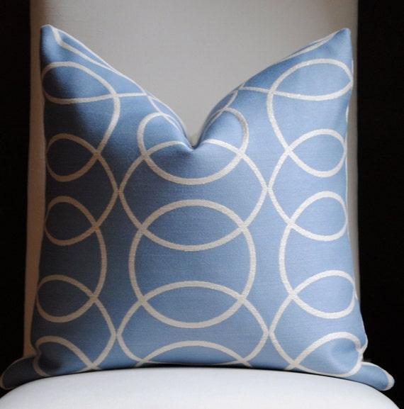 Circle Grove Decorative Pillow Cover-20x20-Accent Pillow-Throw Pillow-China Blue-Cream