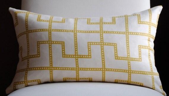 Beautiful Decorative Pillow Cover-12x20-LINEN-Bleecker-Celerie Kemble-Throw Pillow-Accent Pillow