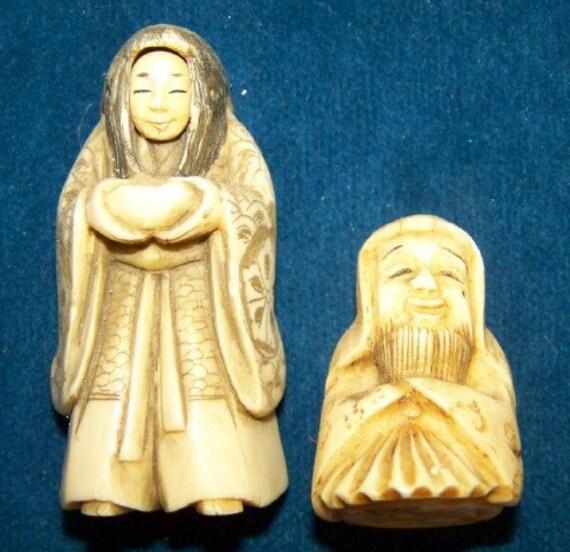 Aint they Asian Ivory Netsuke Figures