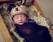 Puppy Dog Hat and Bone - Boy Newborn Photo Prop - Chance the Puppy with Bone