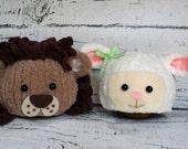 Lamb Hat - Easter Photography Prop - Newborn Photo Prop