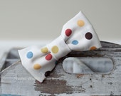 Mason . Bow Tie . Multicolored Dots on Cream