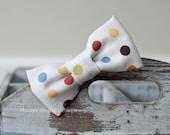 Mason . Bow Tie . Multicolored Dots on Cream
