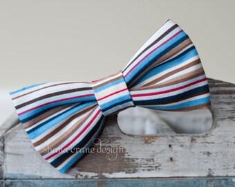 Liam . Bow Tie . Multicolored Stripes