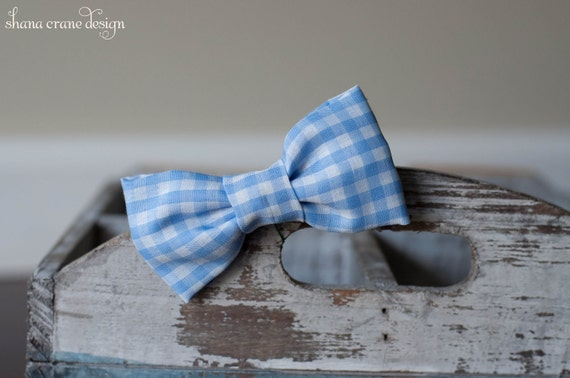 Harry . Bow Tie . Blue Gingham