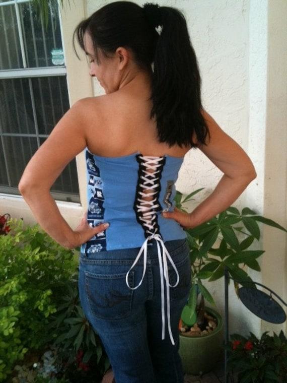 NC Tarheel corset top Medium