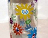 GREAT Recycled Colorful Flower Power Retro Wine Bottle Incense Burner