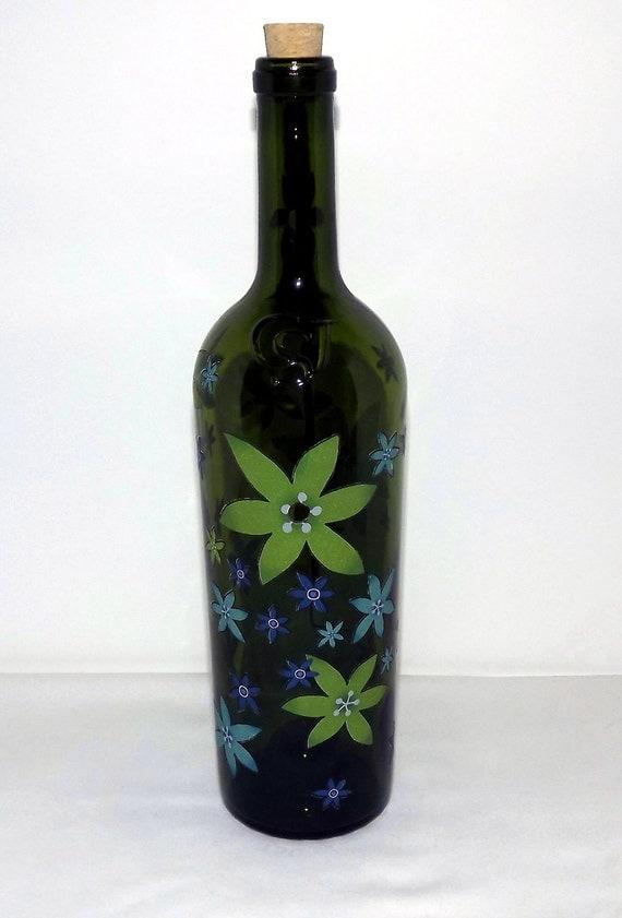 Recycled Starburst Flowers Wine Bottle Incense Burner