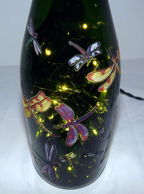 Unique Dragonflies Bar/Table Bottle Accent Lamp-SUPER NICE