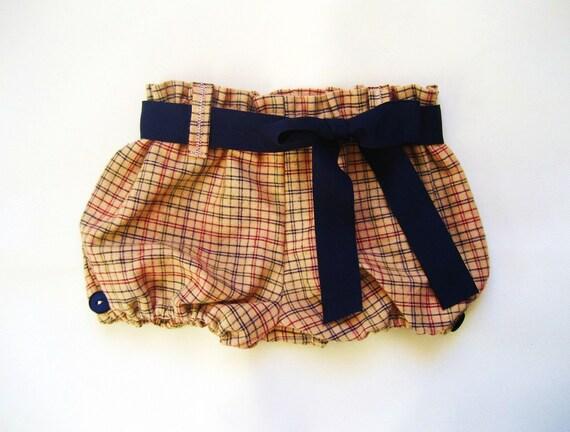 Mustard Bermuda Shorts/ Bloomers - 6 months