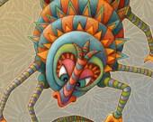 Monster - Gifts For Kids - Personalized Name Print - Letter S Print - Kids Wall Art - Personalized Children - Childrens Art - Monster Art