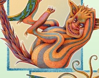 Monster - Alphabet Poster - Monster Poster - Letter Poster - Children Poster - Nursery Art Print - Little Monsters Poster - Playroom Decor