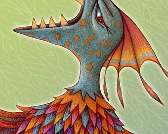Monster - Personalized Children Name Sign - Children Name Print - Letter R Print - Kids Wall Art - Monster Art - Little Monster