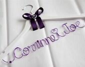 WEDDING DRESS HANGER - Bride Groom Names