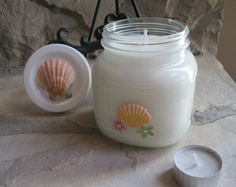 Soy Candle From California Beach - Massage Candle -  Wonderfully Scented - Dye Free - Kosher - Vegan Holistic From Distracting Me