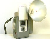 Ansco Anscoflex II Army Green Box Camera with Flash Unit