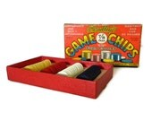 vintage Poker Chips - Bradley Game Chips