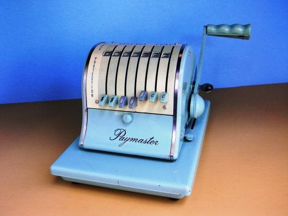 vintage Paymaster check writer - model S-1000