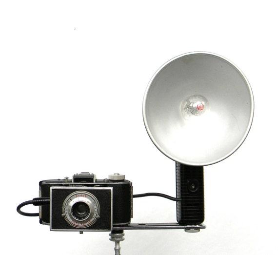 Kodak Flash Bantam vintage camera with flash unit, case and more