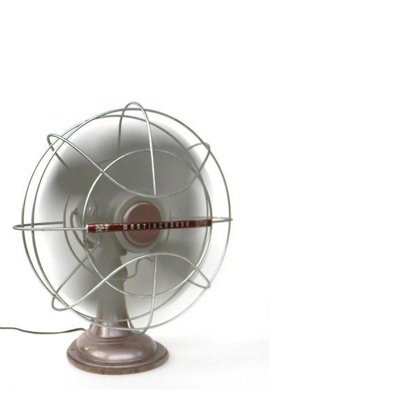 Electrical Table Fan : Westinghouse electric fan vintage table