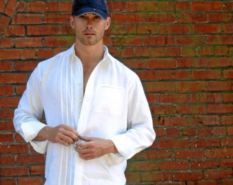 Mens Linen Shirt Custom and Handmade for You