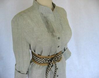 Grey Linen Dress Custom Made for You