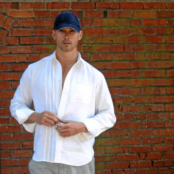 Mens linen shirt custom and handmade for you for Mens linen dress shirt