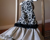 RESERVED LISTING for Michelle, Boutique Fancy OOAK Apron - Size Medium 4T - 6