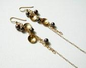 14K Gold filled chain earrings