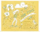 "Summertime Fun Time - 8.5x11"" Print"