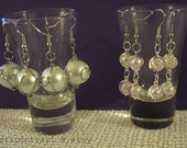 Reserved - Double-Hang Earrings and Hand-wrapped Large Orbital Earrings