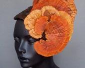 Orange Fungus Headdress Headpiece